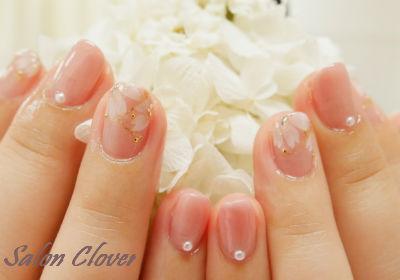 大人可愛い♡春の桜、お花ネイル