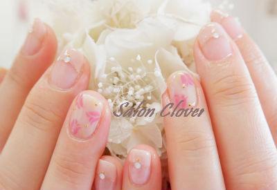 フレンチ×チューリップ☆春のお花ネイル