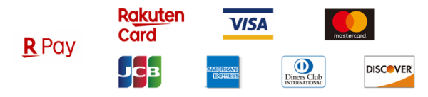 Visa・MasterCard・JCB・AmericanExpress・Diners Club・Discover