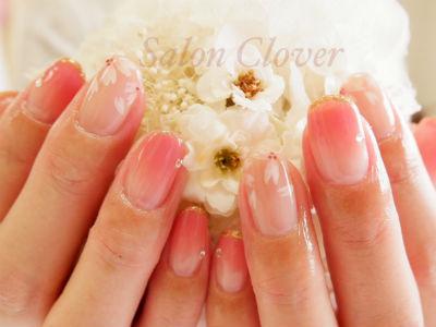 大人かわいい、春の桜オフィスネイル